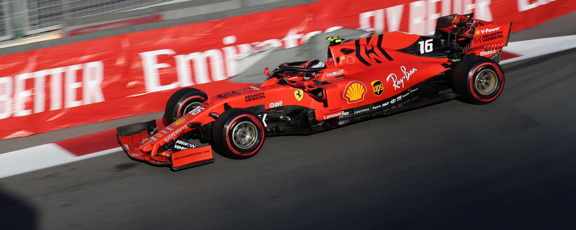 F1 GP Azerbaijan 2019, Charles Leclerc è leader delle PL3