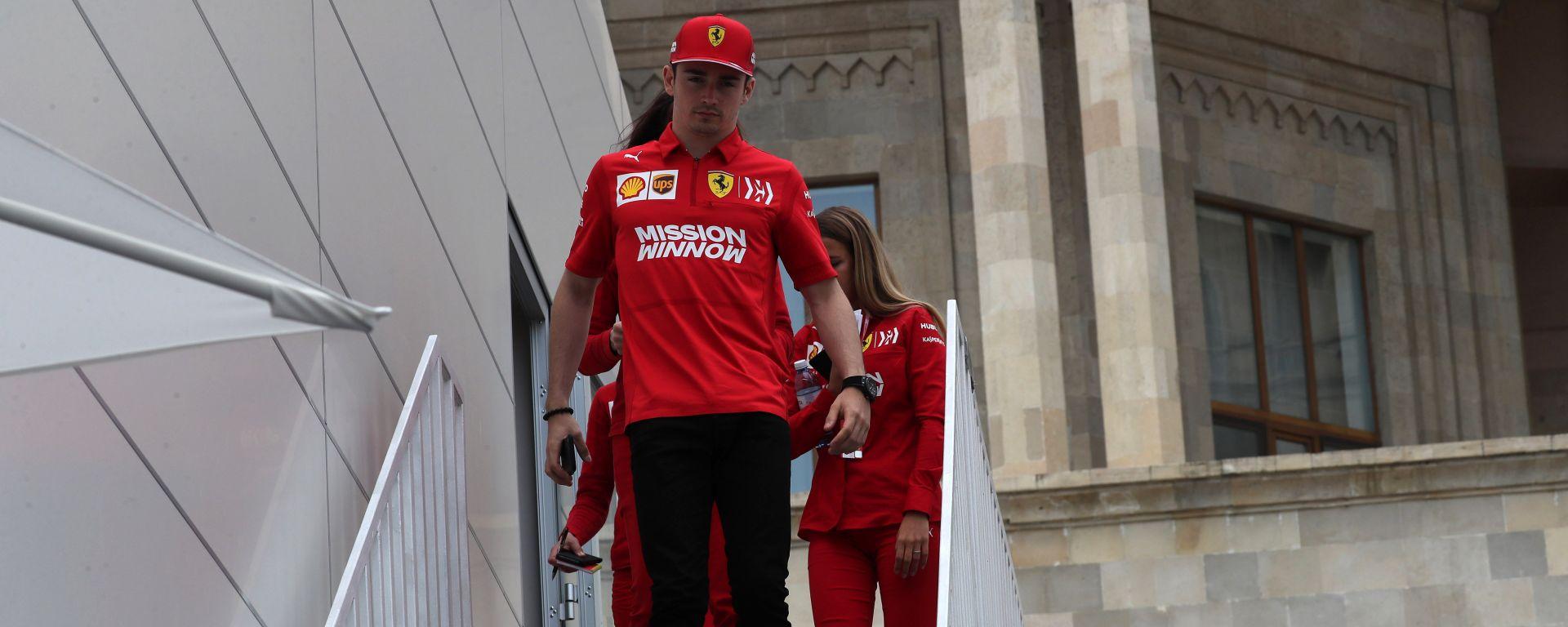 F1 GP Azerbaijan 2019, Leclerc nel giovedì di Baku