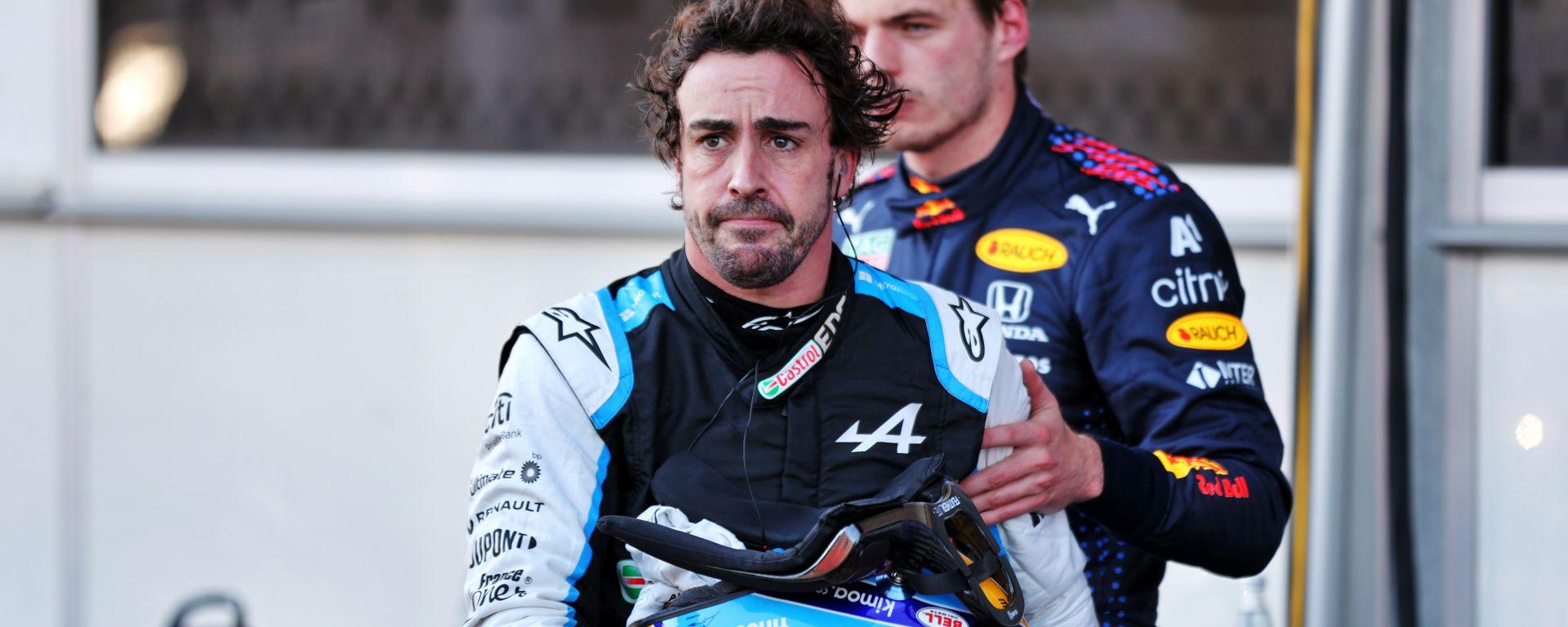 F1 GP Azerbaijan 2021, Baku: Fernando Alonso (Alpine F1 Team) deluso dopo le qualifiche