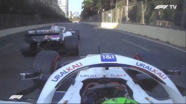 F1, GP Azerbaijan 2021: la chiusura di Mazepin su Mick Schumacher