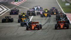 F1 GP Bahrain 2019, Sakhir: la partenza della gara della passata stagione