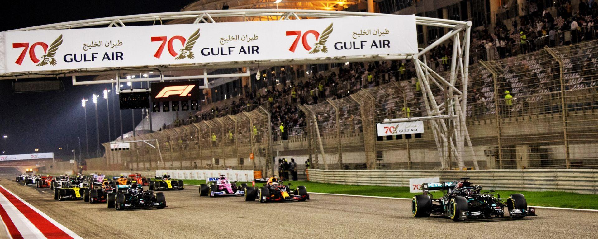 F1, GP Bahrain 2020: la partenza della gara