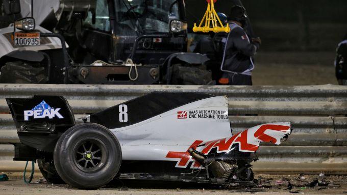 F1, GP Bahrain 2020: lo spaventoso incidente di Romain Grosjean (Haas)