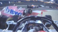 F1 GP Bahrain 2020, Sakhir: il contatto tra Daniil Kvyat (AlphaTauri) e Lance Stroll (Racing Point)