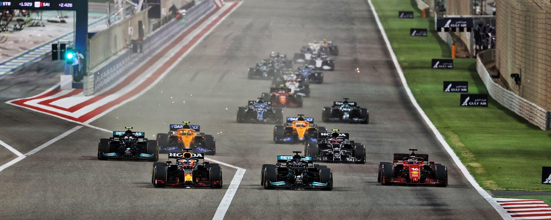 F1, GP Bahrain 2021: la partenza della gara