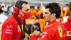 F1, GP Bahrain 2021: Riccardo Adami e Carlos Sainz (Ferrari)