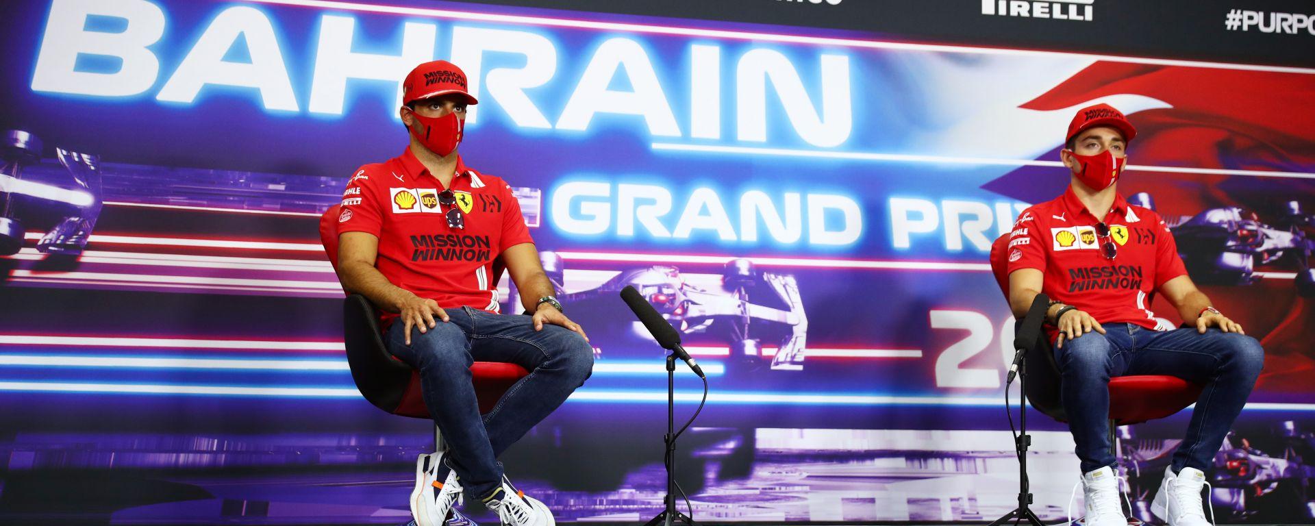 F1 GP Bahrain 2021, Sakhir: Charles Leclerc e Carlos Sainz (Scuderia Ferrari)