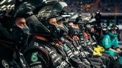 F1 GP Bahrain 2021, Sakhir: i meccanici al box Mercedes