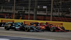 F1, GP Bahrain 2021: Sebastian Vettel (Aston Martin) e Charles Leclerc (Ferrari)
