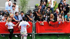 F1, GP Belgio 2017: Sergio Perez (Force India) nel ring delle interviste