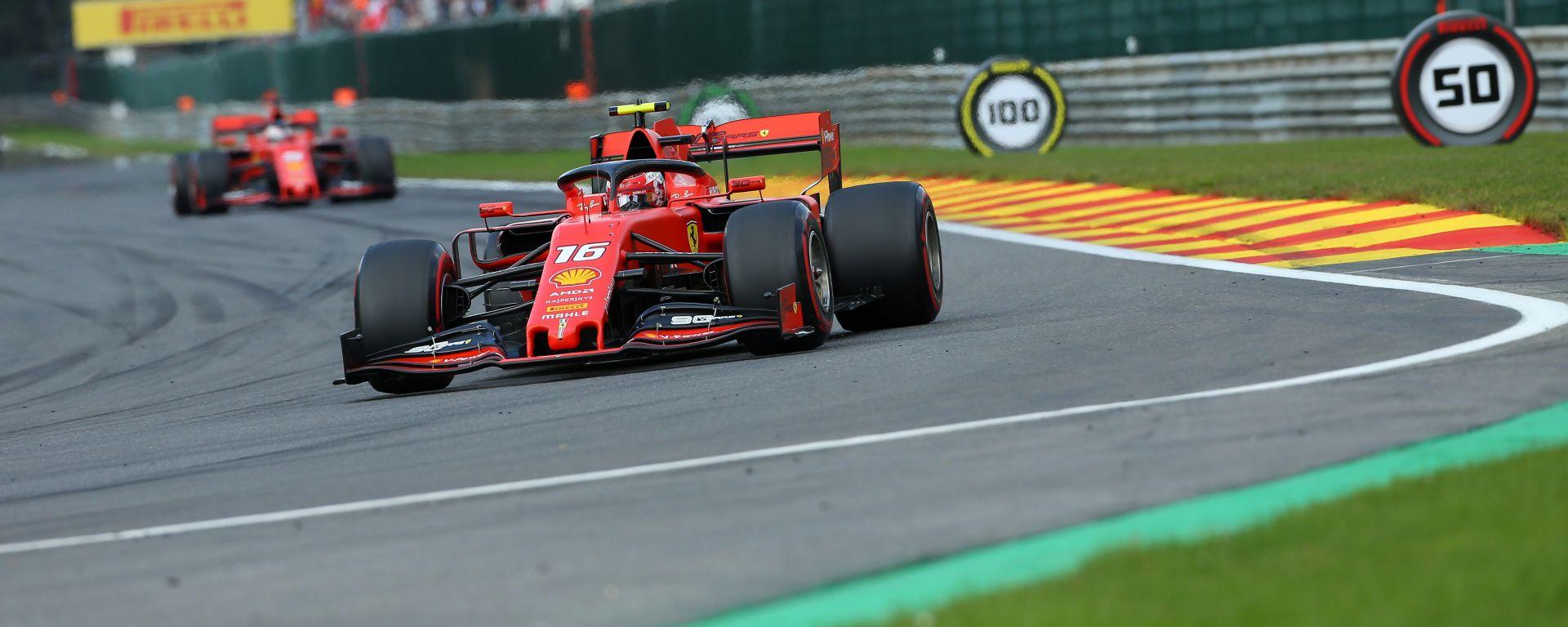 F1 GP Belgio 2019, Charles Leclerc (Ferrari) nei primi giri di gara a Spa-Francorchamps