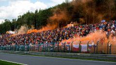 F1, GP Belgio 2019: i tifosi di Max Verstappen sulle tribune del circuito di Spa-Francorchamps