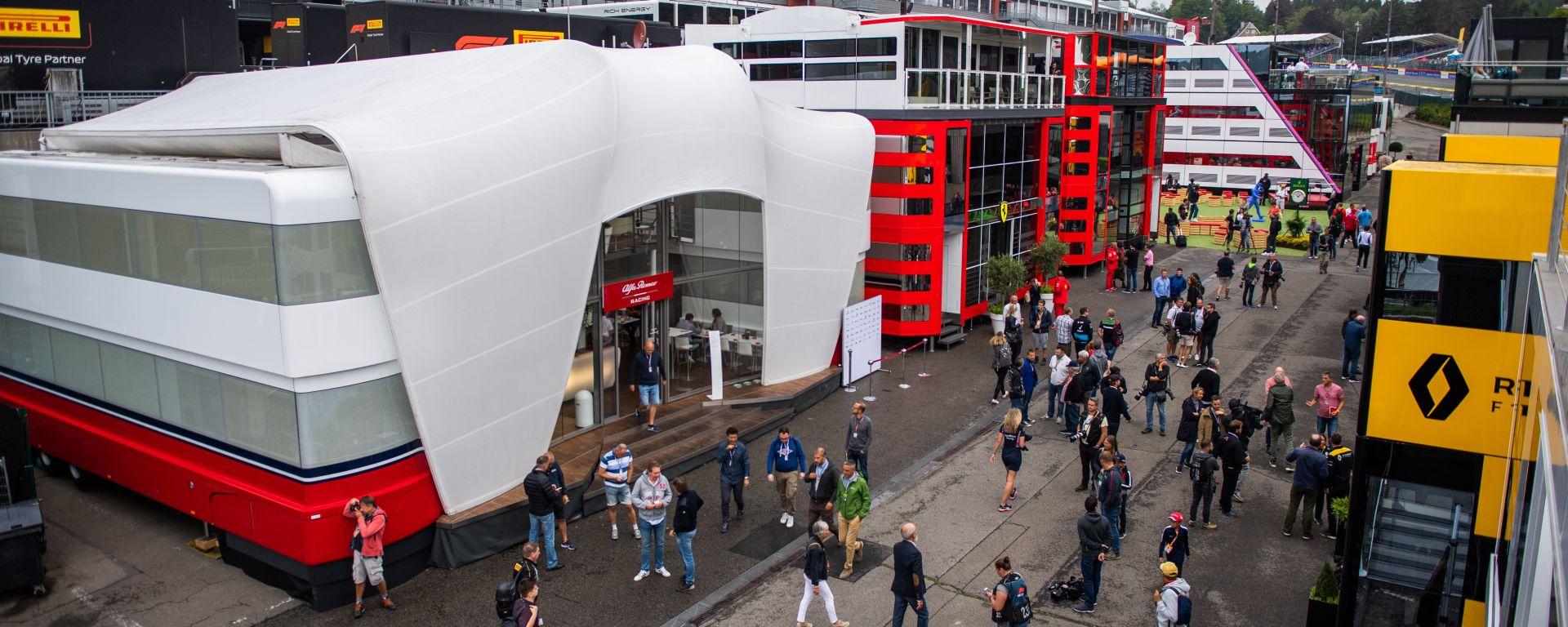 F1, GP Belgio 2019: il paddock di Spa