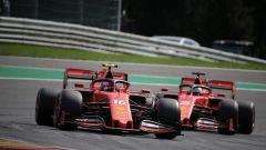 F1 GP Belgio 2019, Spa Francorchamps, Charles Leclerc e Sebastian Vettel (Ferrari)