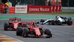 F1 GP Belgio 2019, Spa Francorchamps, Charles Leclerc (Ferrari) e Sebastian Vettel (Ferrari)