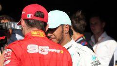 F1 GP Belgio 2019, Spa-Francorchamps, Lewis Hamilton (Mercedes) e Charles Leclerc (Ferrari)