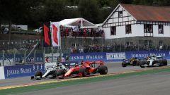F1 GP Belgio 2019, Spa Francorchamps, Sebastian Vettel (Ferrari) e Lewis Hamilton (Mercedes)