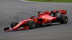 F1 GP Belgio 2019, Spa Francorchamps, Sebastian Vettel (Ferrari) inseguito da Charles Leclerc