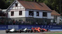 F1 GP Belgio 2019, Spa: la partenza della gara con Leclerc a comandare il gruppo