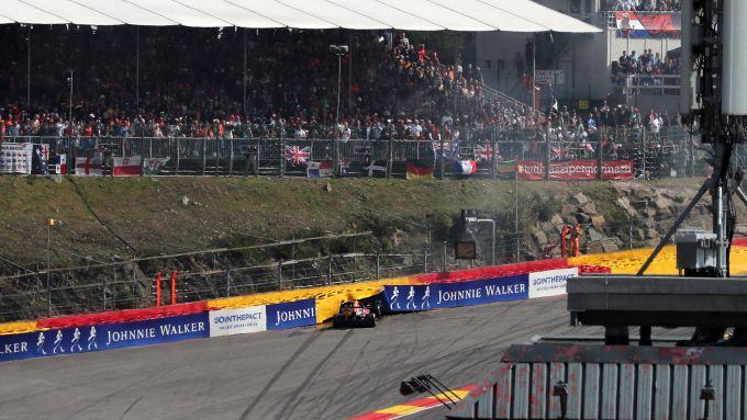 F1 GP Belgio 2019, Spa: l'incidente al via di Max Verstappen
