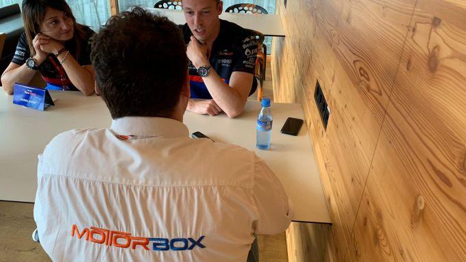 F1 GP Belgio 2019, Spa: MotorBox intervista Daniil Kvyat nell'hospitality Red Bull-Toro Rosso - 5
