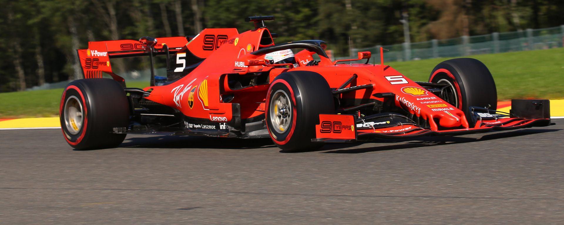 F1 GP Belgio 2019, Spa: Sebastian Vettel (Ferrari) in azione in pista
