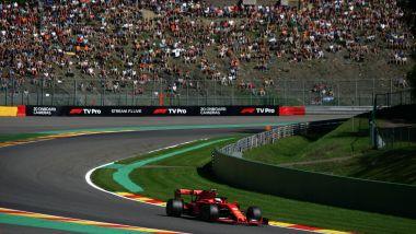 F1 GP Belgio 2019, Spa: Sebastian Vettel (Ferrari) nel secondo settore del tracciato