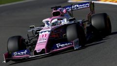 F1 GP Belgio 2019, Spa: Sergio Perez in pista con la Racing Point
