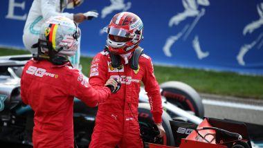 F1 GP Belgio 2019, Spa: Vettel e Leclerc (Ferrari) dopo la prima fila in qualifica