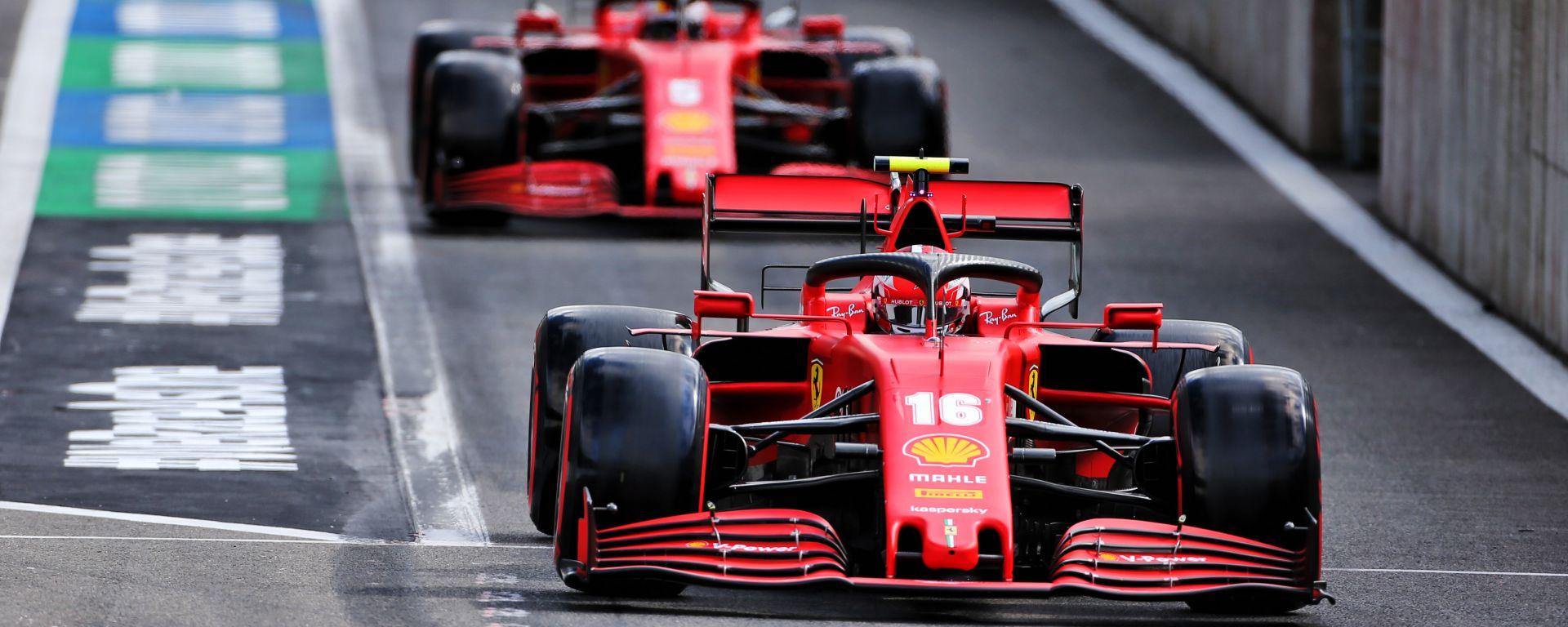 F1, GP Belgio 2020: le Ferrari di Charles Leclerc e Sebastian Vettel