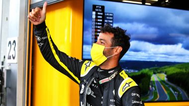 F1, GP Belgio 2020: Ricciardo saluta i suoi tifosi immaginari