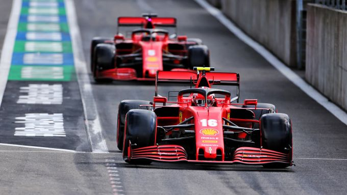F1 GP Belgio 2020, Spa: Charles Leclerc e Sebastian Vettel (Scuderia Ferrari)