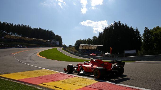 F1 GP Belgio 2020, Spa: Charles Leclerc (Scuderia Ferrari) all'Eau Rouge