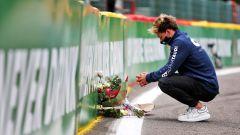F1 GP Belgio 2020, Spa: Pierre Gasly (AlphaTauri) rende omaggio all'amico Anthoine Hubert