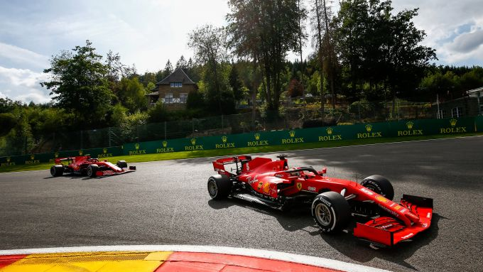 F1 GP Belgio 2020, Spa: Sebastian Vettel e Charles Leclerc (Scuderia Ferrari)