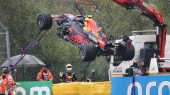 Perché Perez può prendere il via del GP Belgio dopo l'incidente