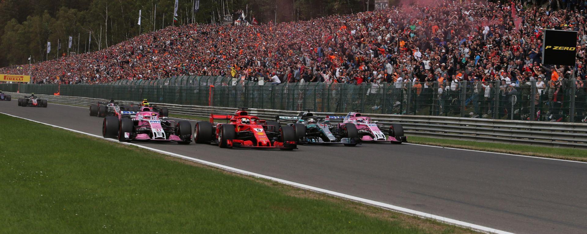 F1 GP Belgio, Spa-Francorchamps: la partenza della gara del 2018