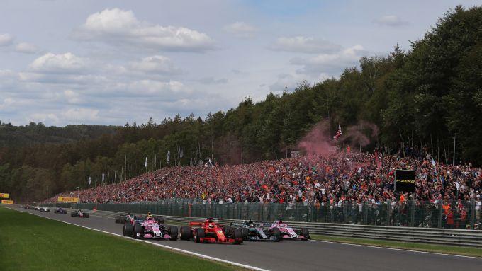 F1 GP Belgio, Spa Francorchamps: la spettacolare partenza dell'edizione 2018