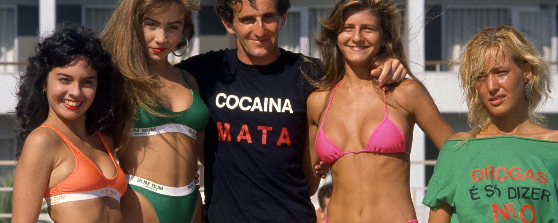 F1 GP Brasile 1989, Jacarepagua: Alain Prost e il suo ficcante messaggio antidroga