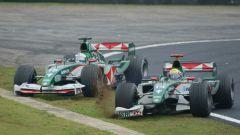 F1 GP Brasile 2004, Interlagos: Jaguar, Mark Webber vs Christian Klien
