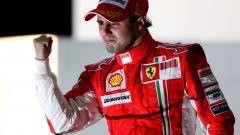 F1, GP Brasile 2008: Felipe Massa (Ferrari) sul podio