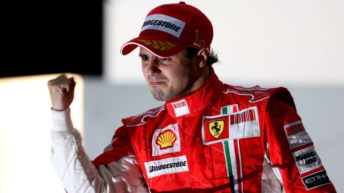 F1 GP Brasile 2008, Interlagos: Felipe Massa in lacrime sul gradino più alto del podio