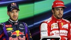 F1, GP Brasile 2013: Sebastian Vettel e Fernando Alonso nella conferenza stampa a fine gara
