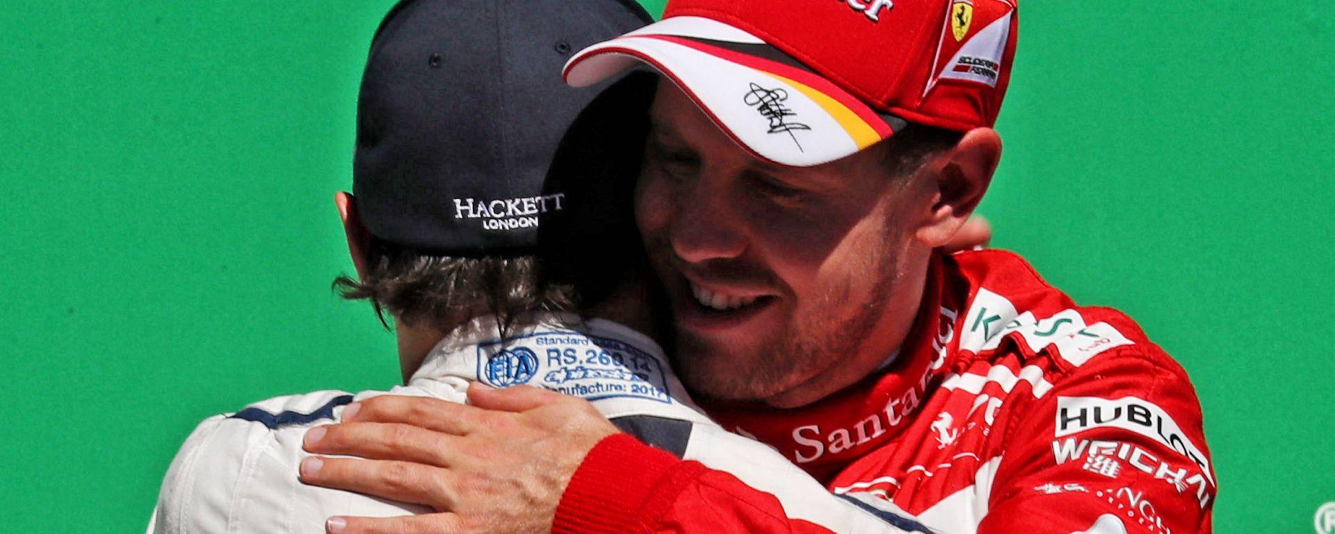 F1, GP Brasile 2017: Felipe Massa (Williams) e Sebastian Vettel (Ferrari)