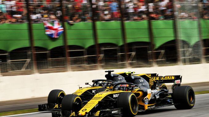 F1 GP Brasile 2018, Interlagos: Carlos Sainz e Nico Hulkenberg (Renault)