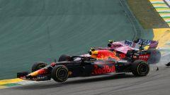 F1, GP Brasile 2018: l'incidente tra Max Verstgappen (Red Bull) ed Esteban Ocon (Force India)