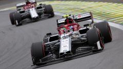 Alfa Romeo ai piedi del podio con Raikkonen e Giovinazzi