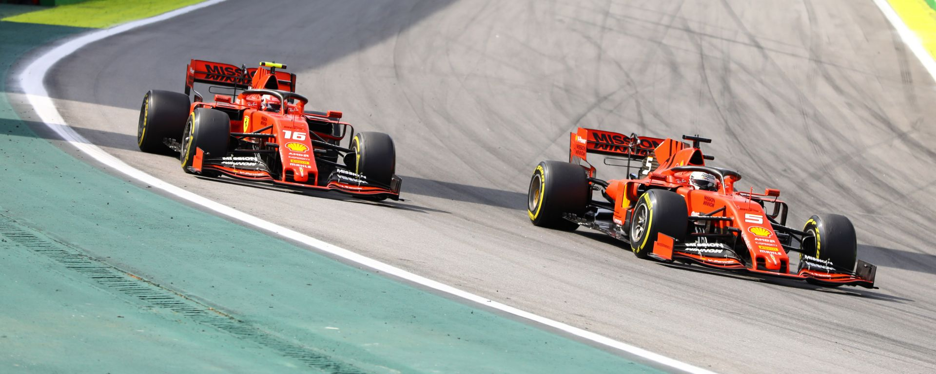 F1 GP Brasile 2019, Charles Leclerc e Sebastian Vettel (Ferrari)