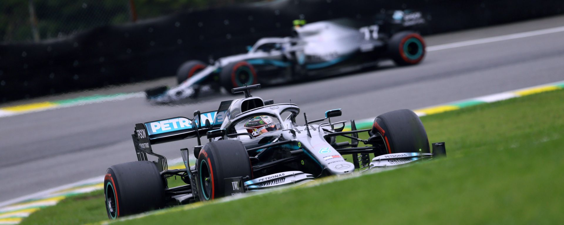 F1 GP Brasile 2019, Interlagos: Lewis Hamilton e Valtteri Bottas (Mercedes)