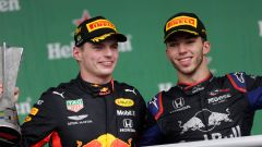 F1 GP Brasile 2019, Interlagos: Max Verstappen (Red Bull) e Pierre Gasly (Toro Rosso)
